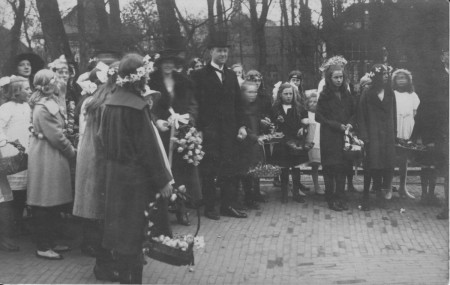 HVB FO 00376  Intocht van H.D.A. van Reenen als burgemeester van Bergen, 17 april 1923