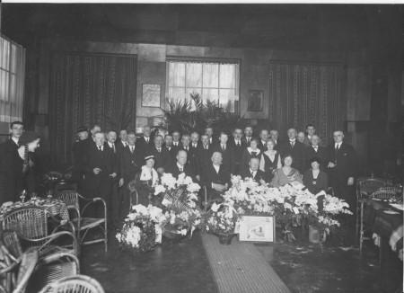 HVB FO 00380  Viering 50-jarig jubileum van Jacob van Reenen als waterschapsbestuurder, 4 januari 1934