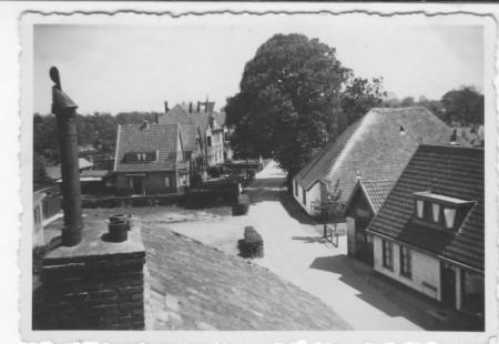 HVB FO 00393  Karel de Grotelaan gezien vanaf het dak van de Rustende Jager, omstreeks 1932