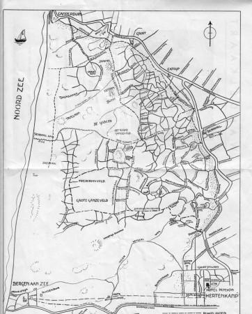HVB FO 00599  Wandelkaart Hotel Hertenkamp, omstreeks 1930
