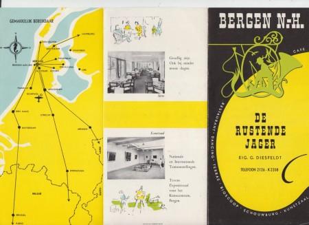 HVB FO 00620  Brochure van de Rustende Jager (voorzijde)