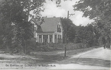 HVB FO 00639  Villa Simmerwente, hoek Breelaan en Guurtjeslaan, 1912