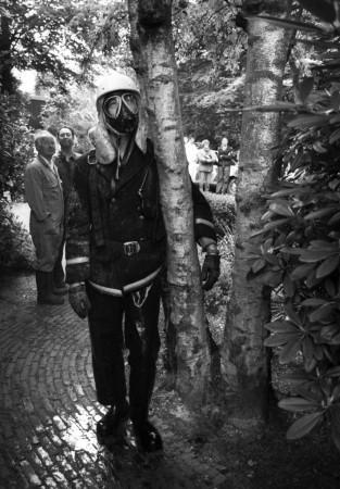 HVB FO 00705  Bergense brandweerman bij villa De Ster