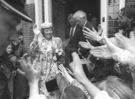 HVB FO 00706  Koningin Beatrix in Bergen
