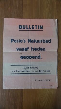HVB FO 00170  Affiche Pesiebad, mei 1945