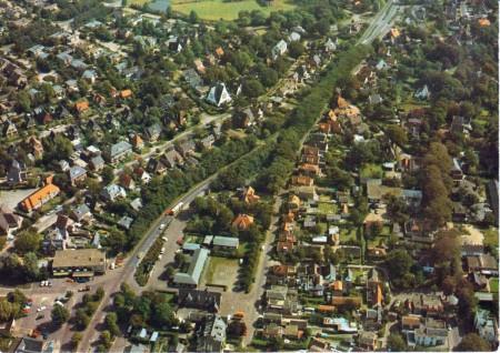 HVB FO 00172  Dreef en omgeving, luchtfoto, omstreeks 1970