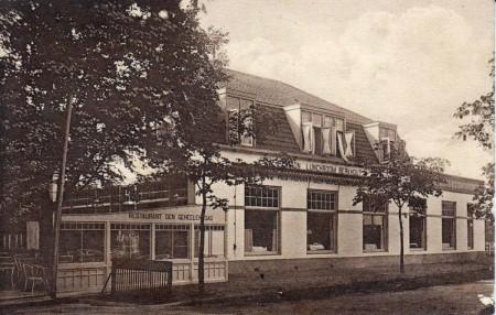 HVB FO 00194 Pension Berkhout (later Wapen van Bergen), Breelaan, omstreeks 1920